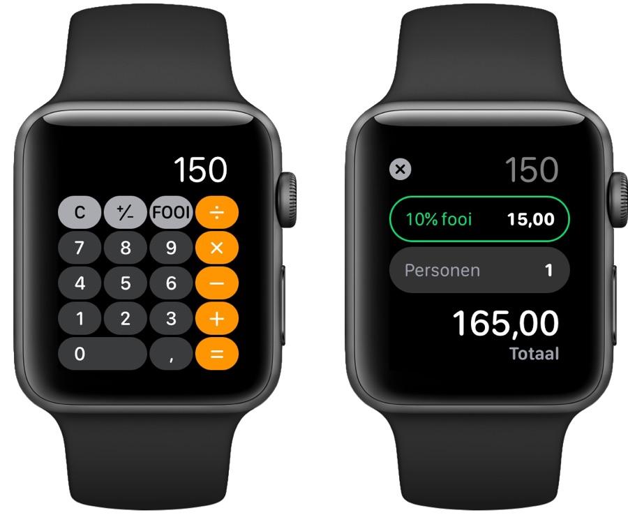 Fooi op je Apple Watch berekenen.
