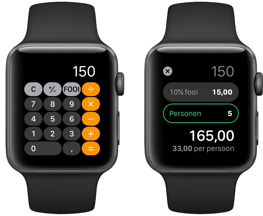 Rekening splitten op je Apple Watch
