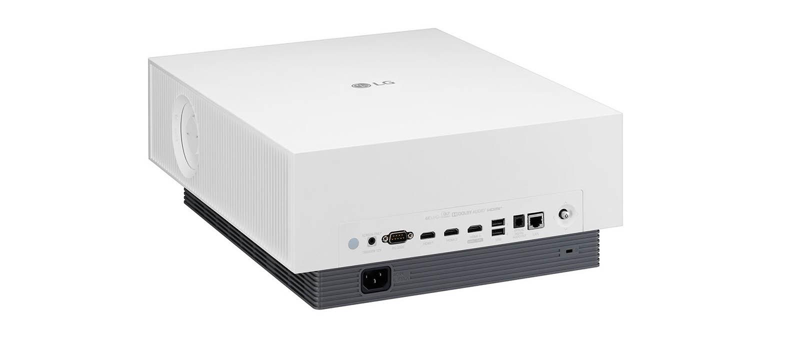 LG 4K projector met AirPlay, achterkant