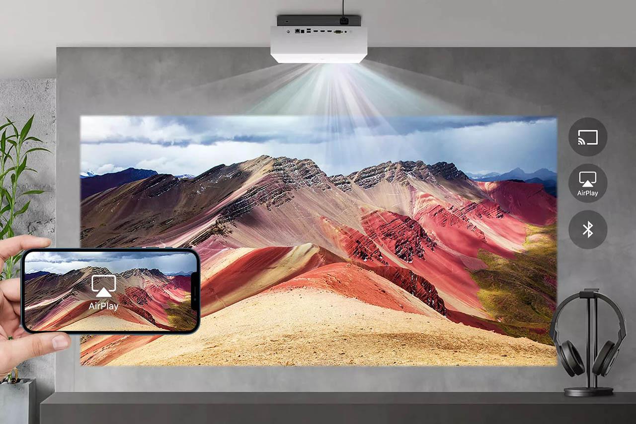 LG 4K projector met AirPlay