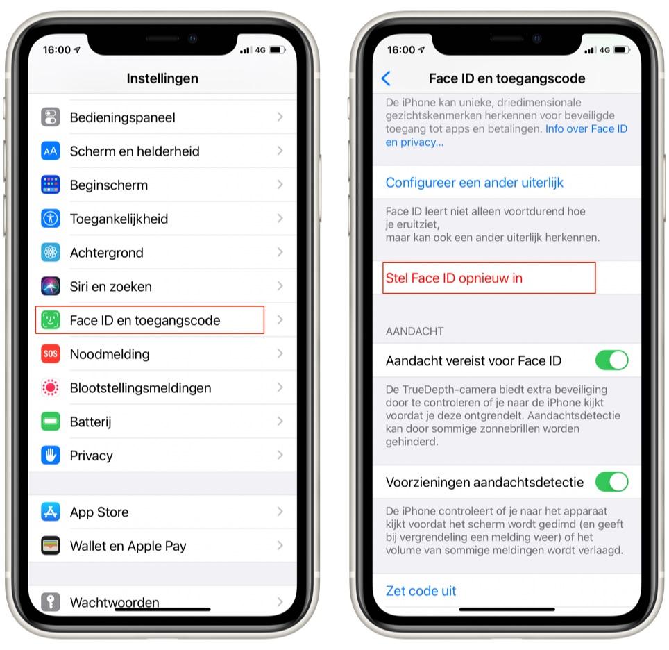 Je Face ID op je iPhone uitschakelen