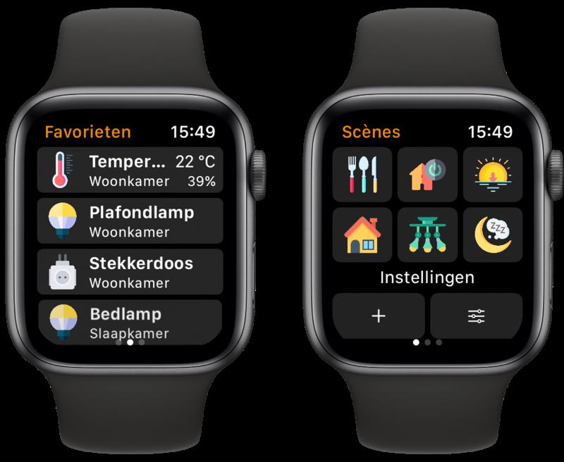 WristControl: HomeKit-app op Apple Watch met scènes en apparaten.