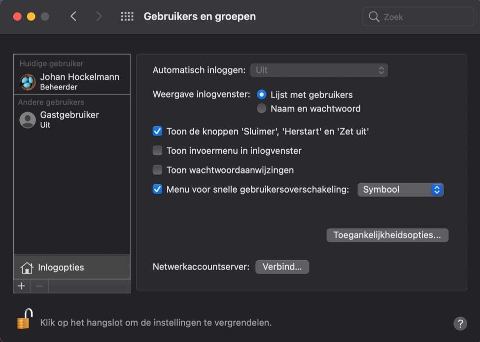 Gebruikers en groepen op de Mac
