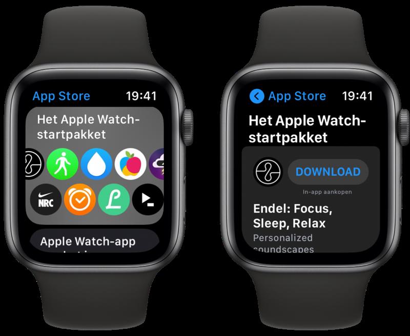 Bladeren door de App Store op de Apple Watch.