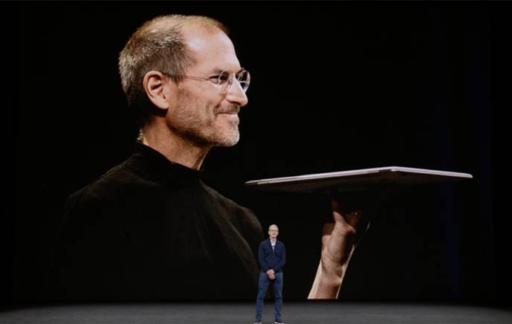 Steve Jobs met MacBook en Tim Cook