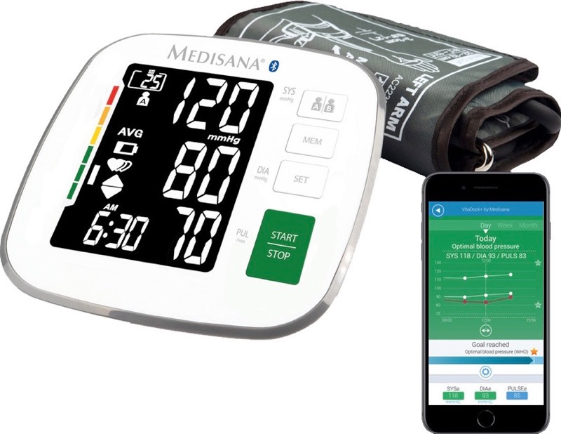 De bloeddrukmeter van Medisana