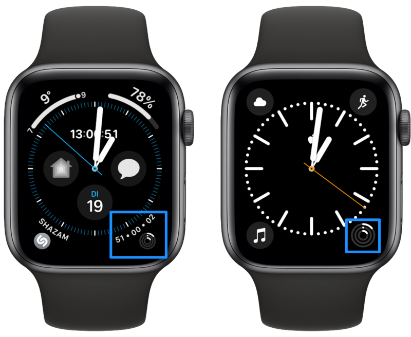 Apple Watch complicatie van Activiteit-ringen.