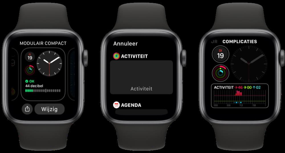 Activiteit-complicatie instellen op Apple Watch.