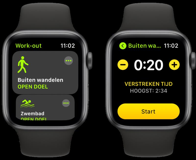 Apple Watch kalibreren met een wandeling van twintig minuten.