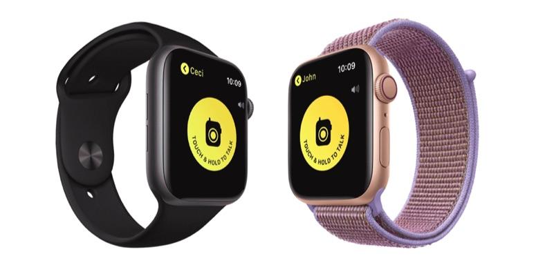 Walkie Talkie op Apple Watch