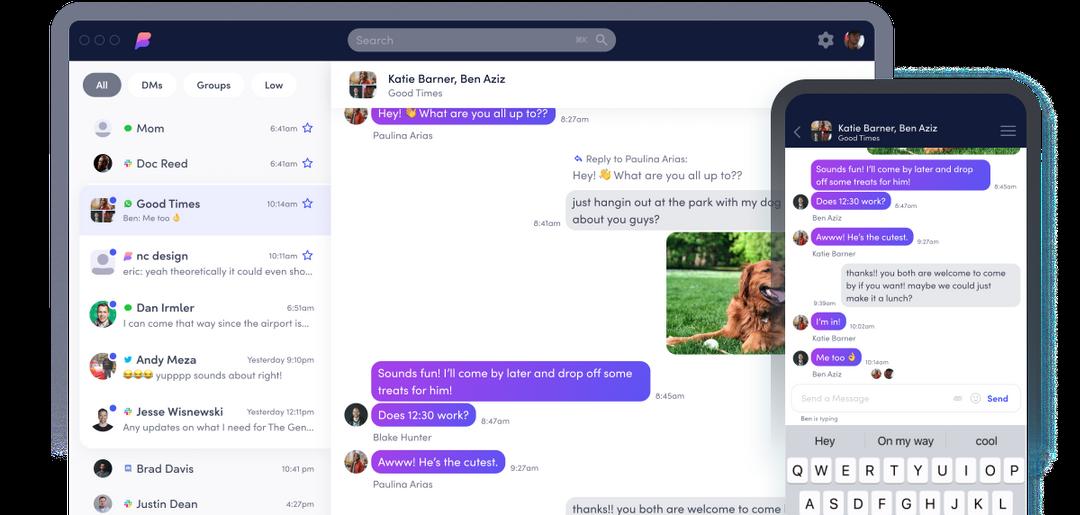 Beeper: chatapp op desktop en smartphone.