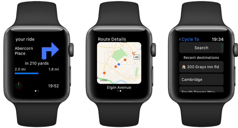 CycleMaps Apple Watch