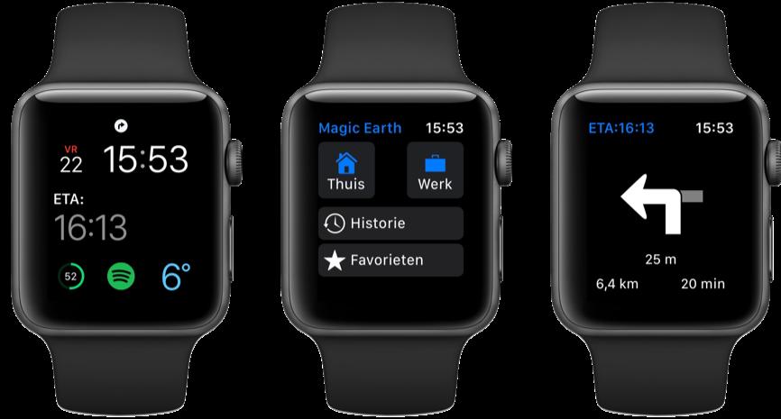 Magic Earth voor Apple Watch