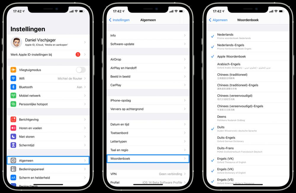 Woordenboek downloaden op iPhone
