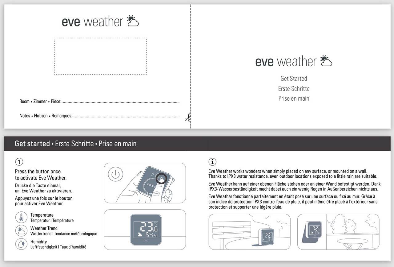 Eve Weather handleiding