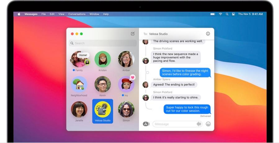 iMessage op macOS Big Sur