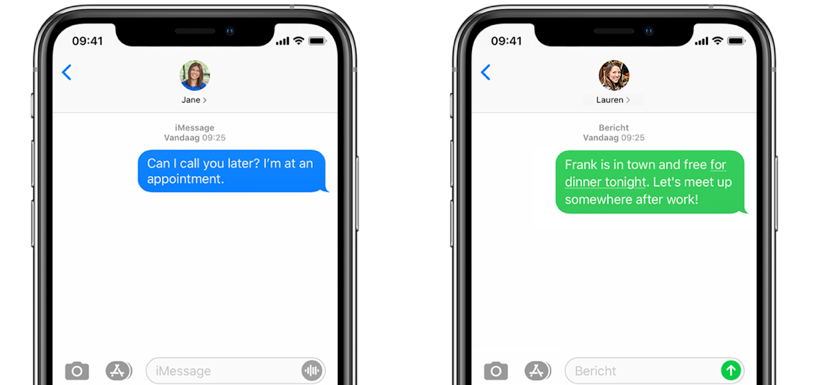 Sms of iMessage op iPhone