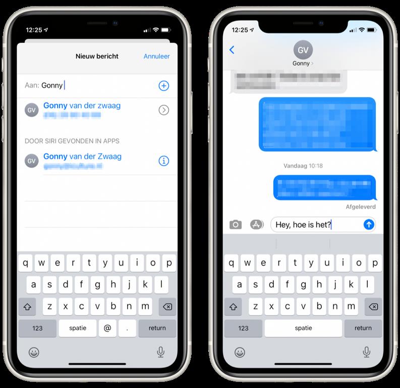 iMessage op iPhone