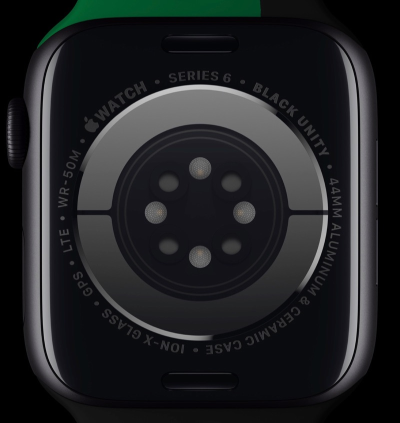 Apple Watch Black Unity Collection Series 6 achterkant.