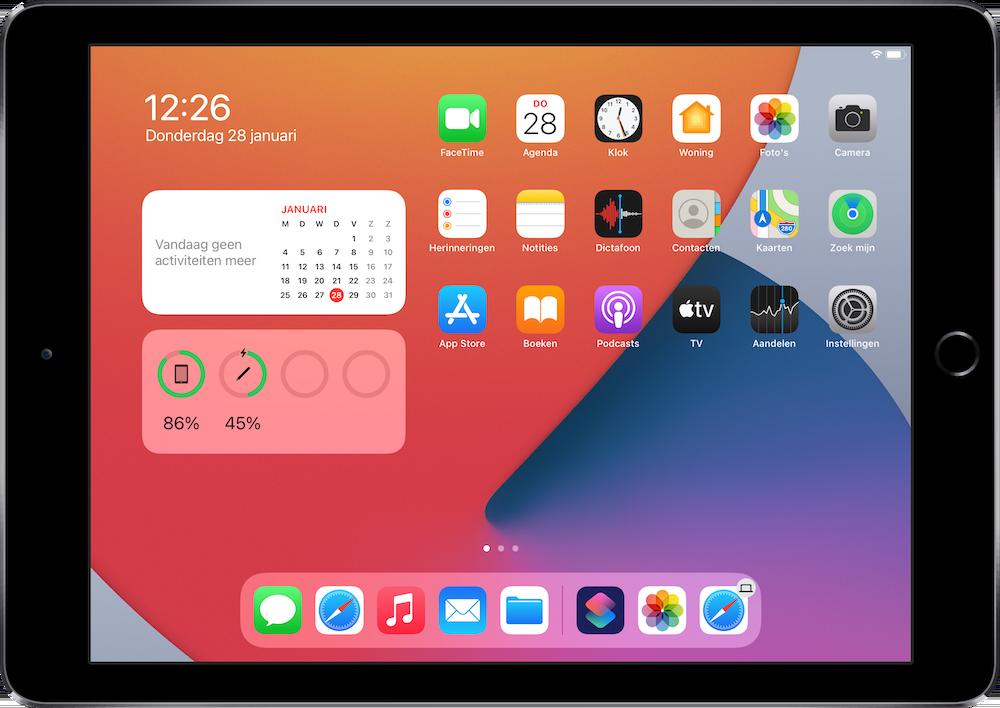 Apple Pencil met iPad opladen