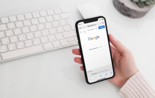 Google zoekmachine op iPhone.