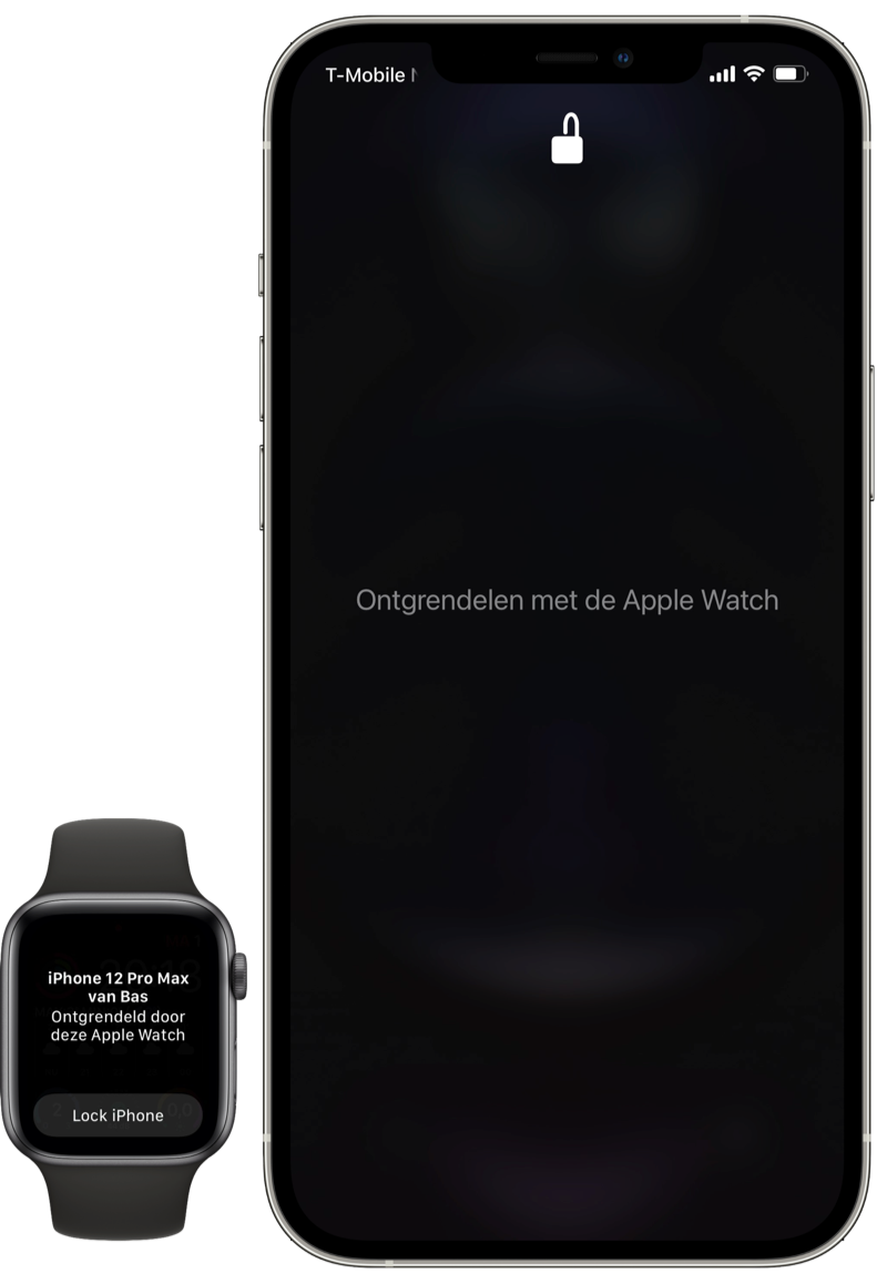 iPhone ontgrendelen via Apple Watch.