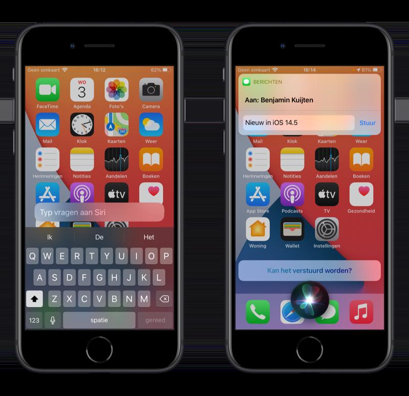 Siri-verbeteringen in iOS 14.5.