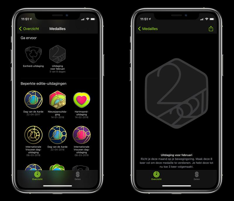 Persoonlijke uitdaging van je Apple Watch bekijken.