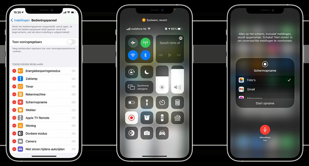 Schermopname iPhone
