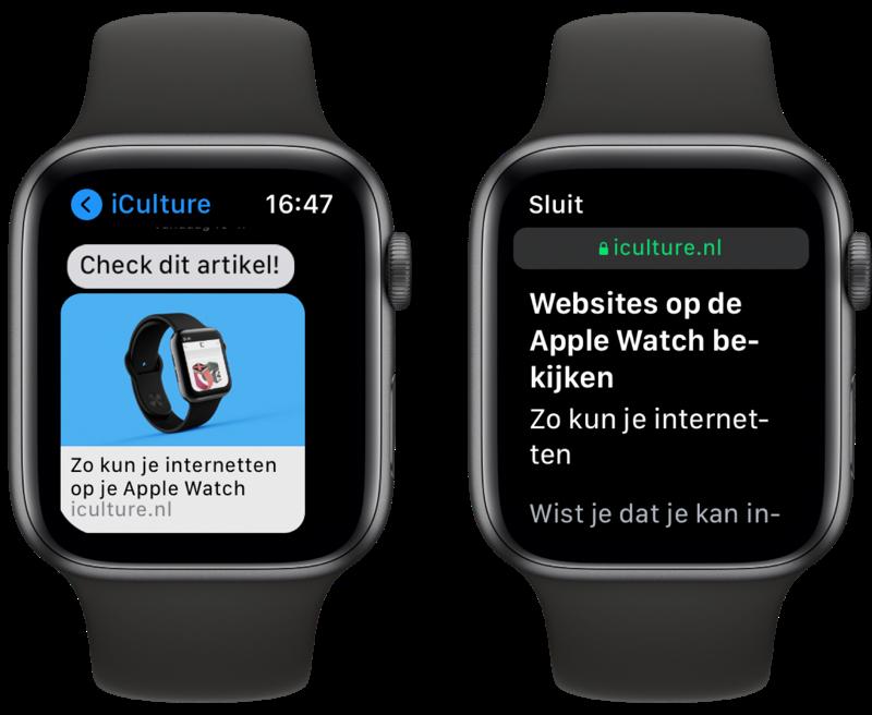Websites bekijken op de Apple Watch: zo kun je internetten.
