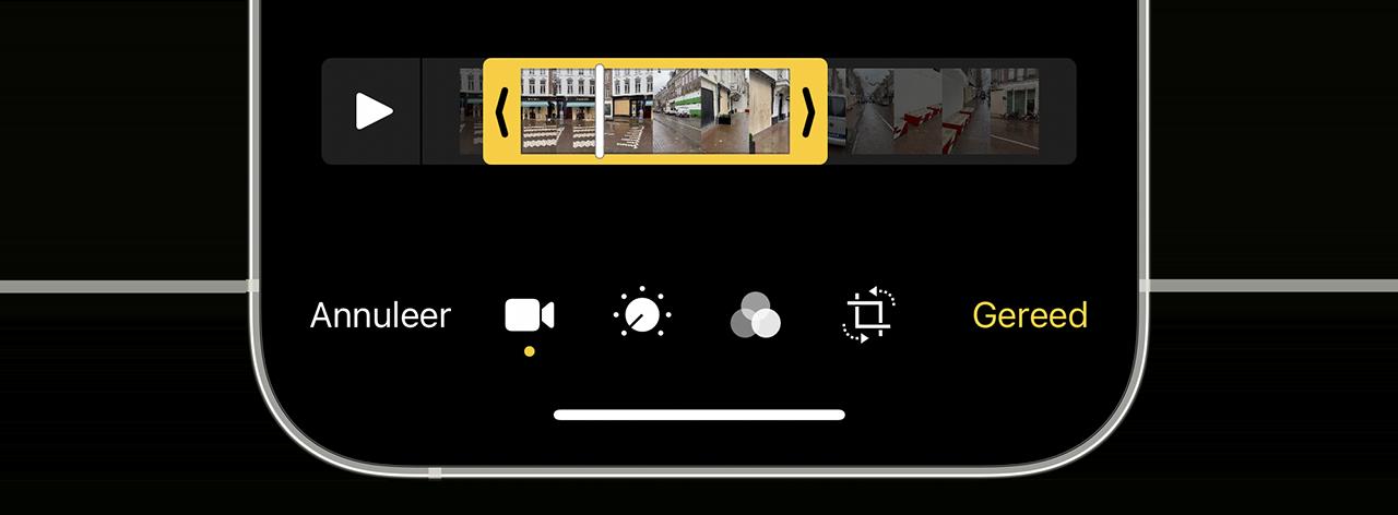 Video bewerken op iPhone