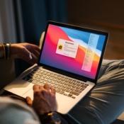 HomeControl Menu op een MacBook.