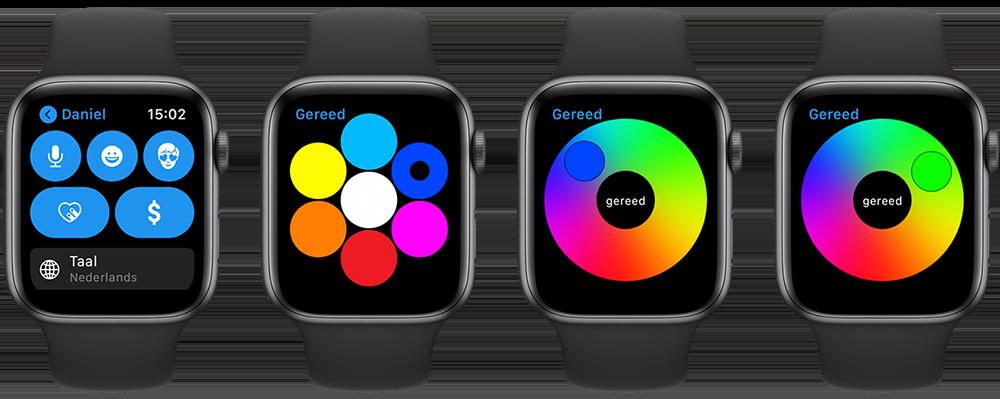 Digital Touch-kleuren op de Apple Watch
