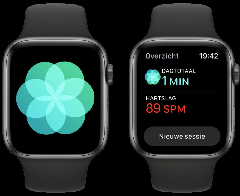 Ademhaling-app: resultaten bekijken.