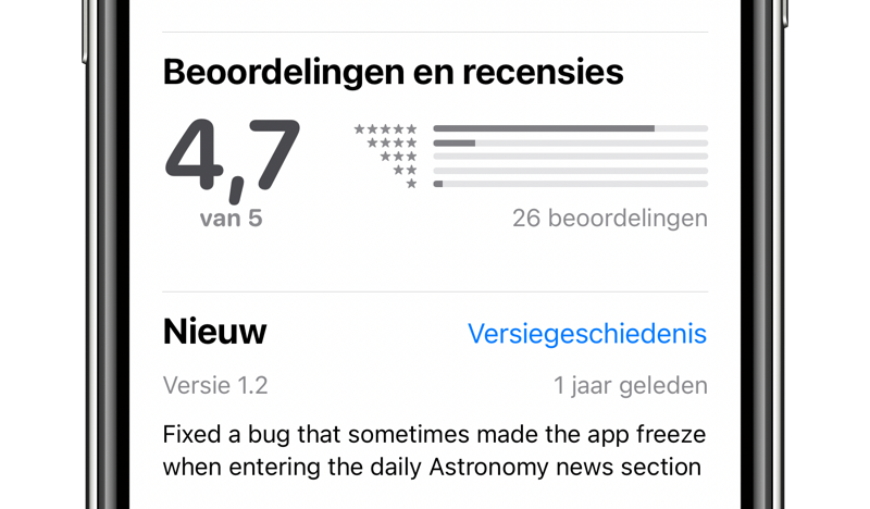 App Store scam herkennen aan reviews.