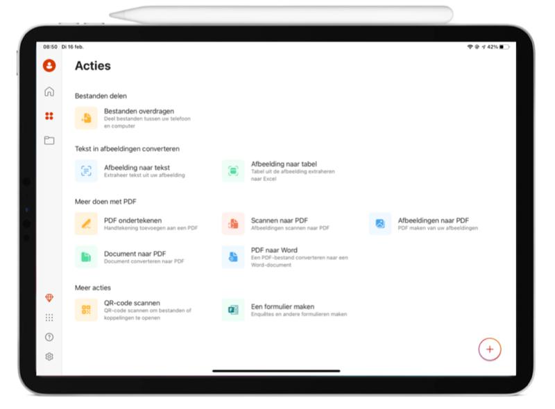 Overkoepelende Microsoft Office app voor iPad.