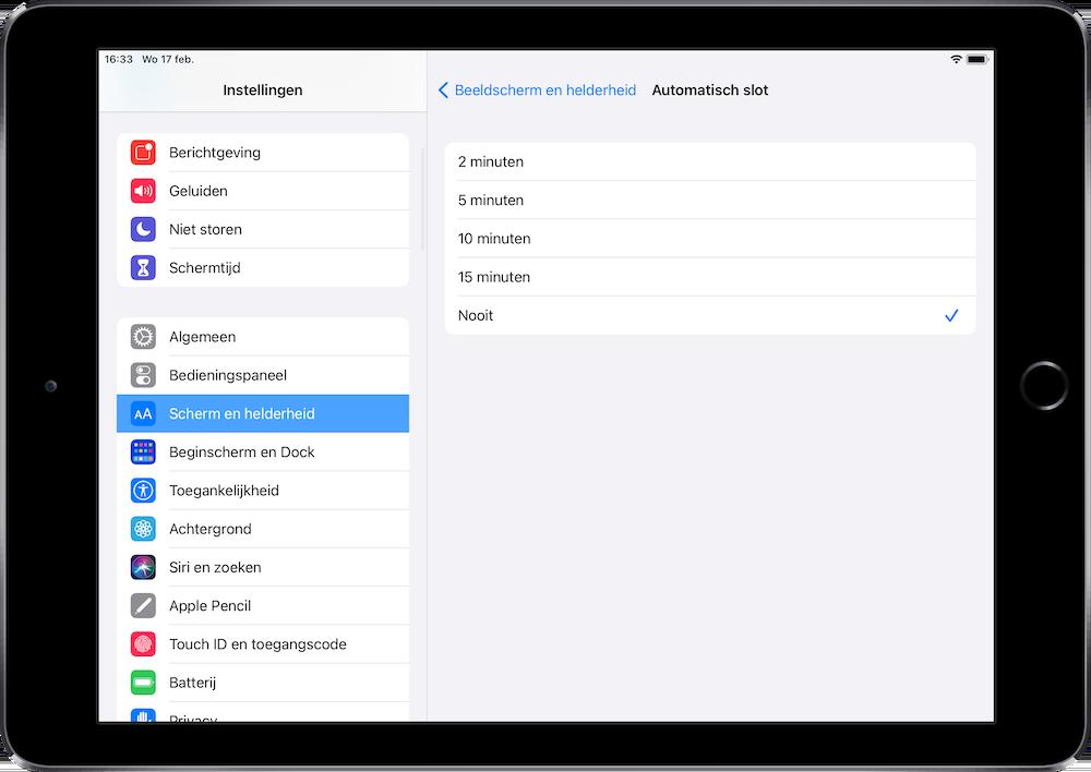 iPad-Automatisch-slot-nooit