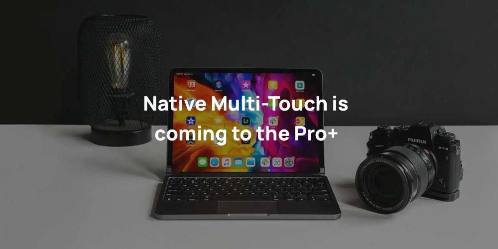 Brydge Pro+ toetsenbord met multi-touch voor trackpad.