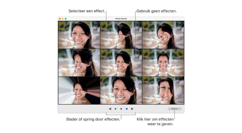 Effecten-Photo-Booth-Mac-uitleg-knoppen