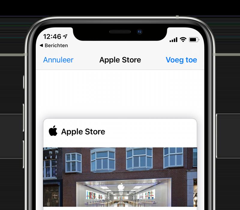 Wallet-kaart van de Apple Store toevoegen via sms.