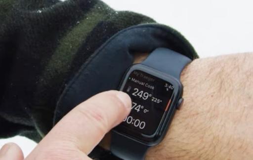 Traeger op Apple Watch.