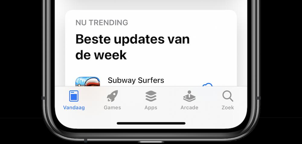 App Store tabbladen