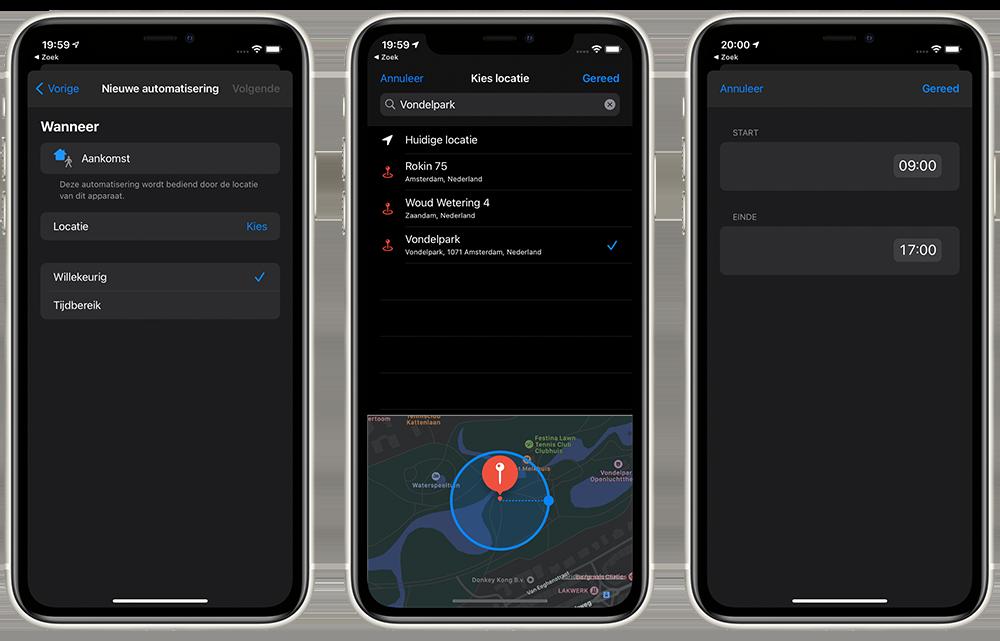 Apple Watch stilhouden op basis van locatie