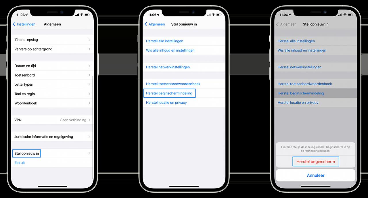 Apps in alfabetische volgorde