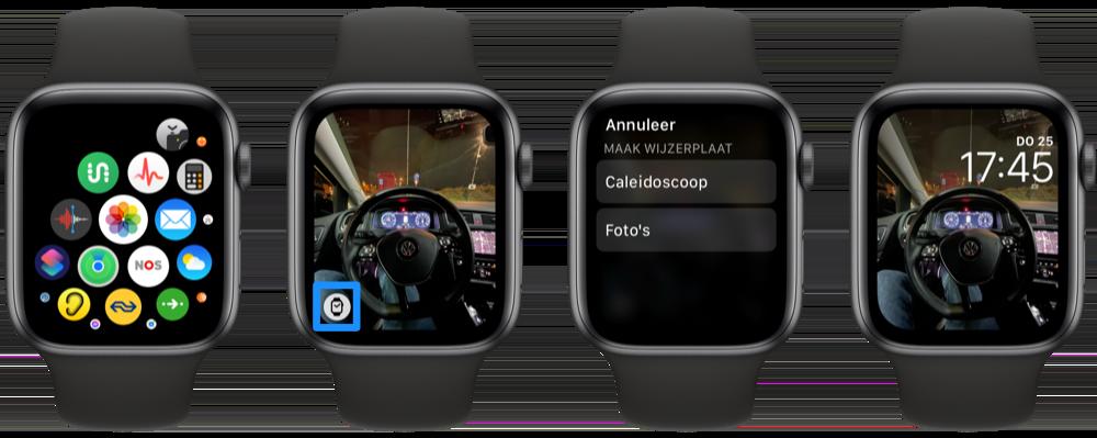 Wijzerplaat van foto maken op Apple Watch