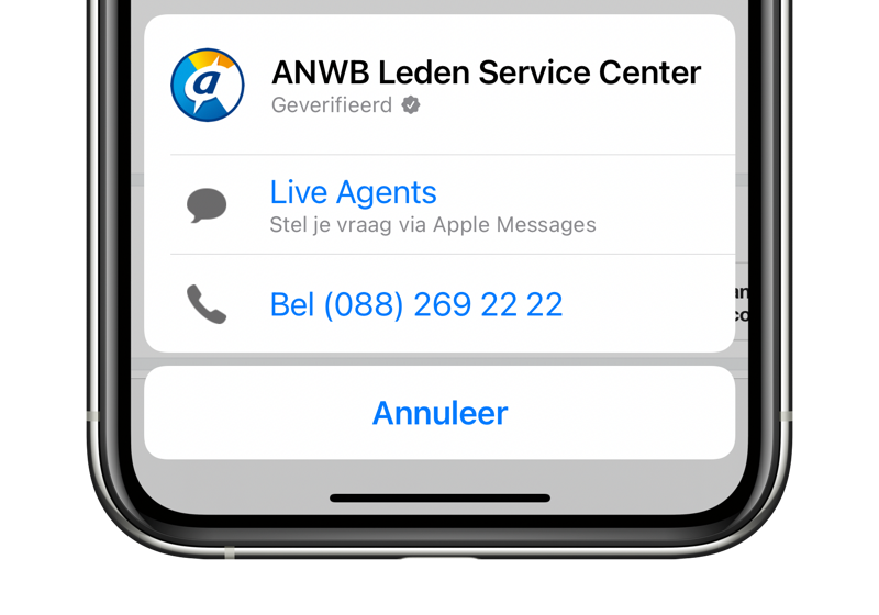 Business Chat starten met ANWB.