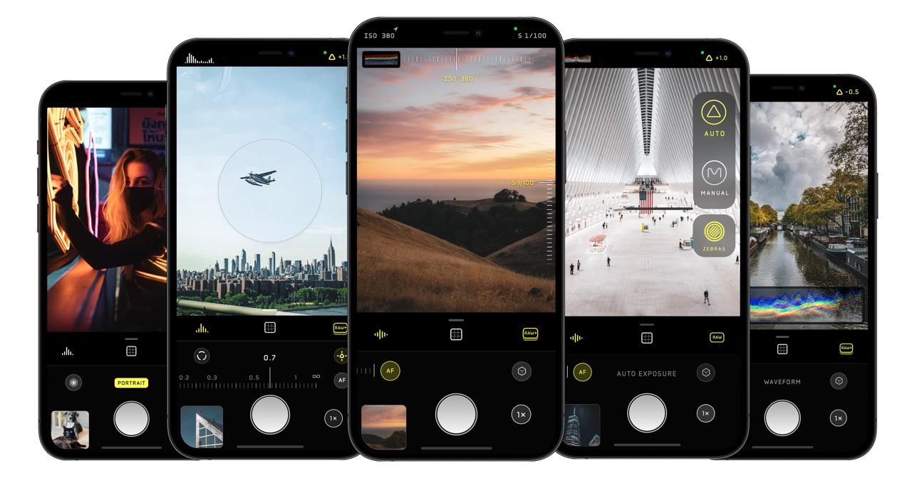 Halide iPhone screenshots