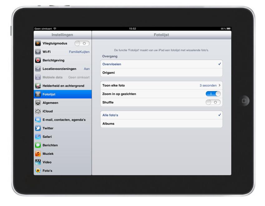 iPad fotolijst functie.