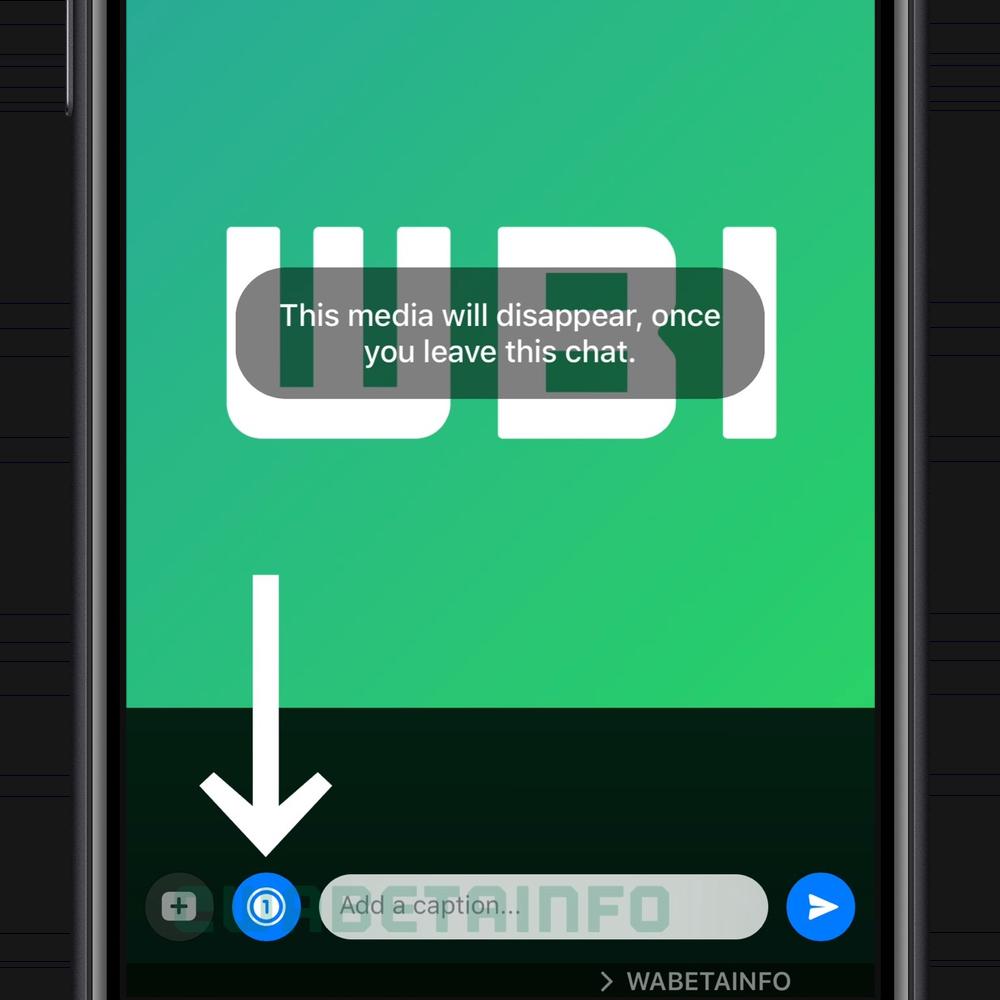Instellingen in WhatsApp voor verdwijnende foto's bij verlaten van de chat.
