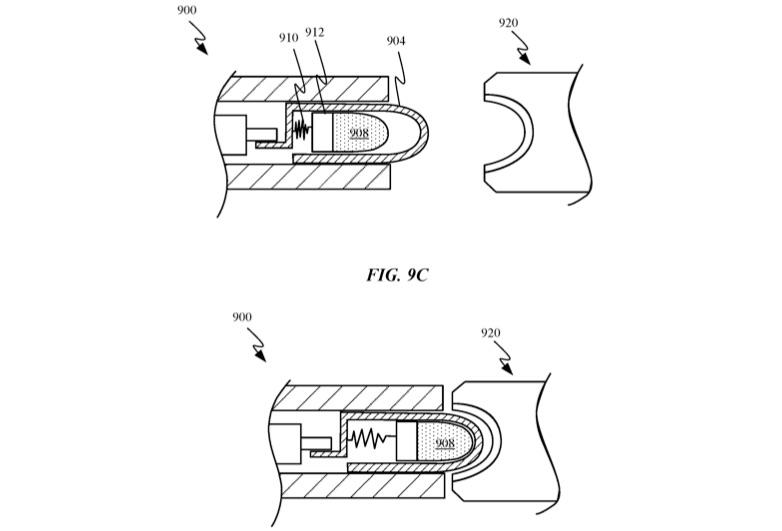 Patent voor magnetische aansluiting van Apple.